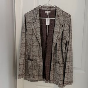 Maurices Menswear Plaid Open Front Blazer
